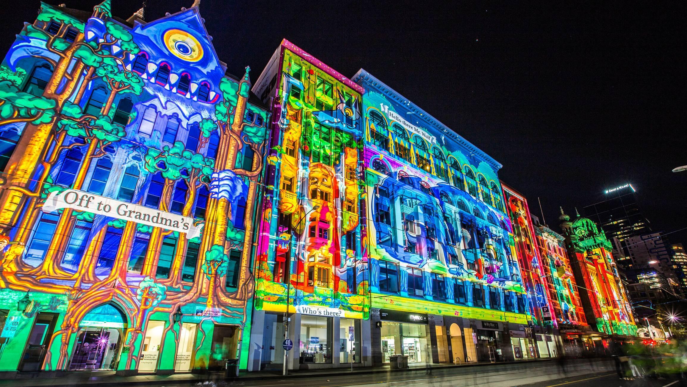 vidéo mapping façade de bâtiment historique