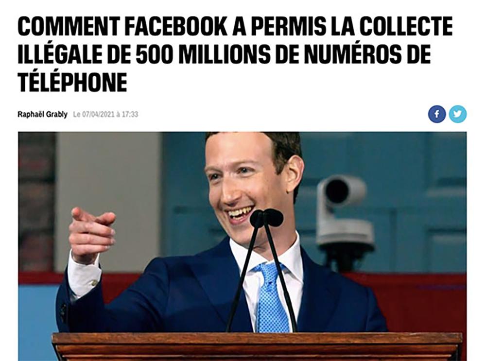 piratage facebook 2021 500 millions de comptes