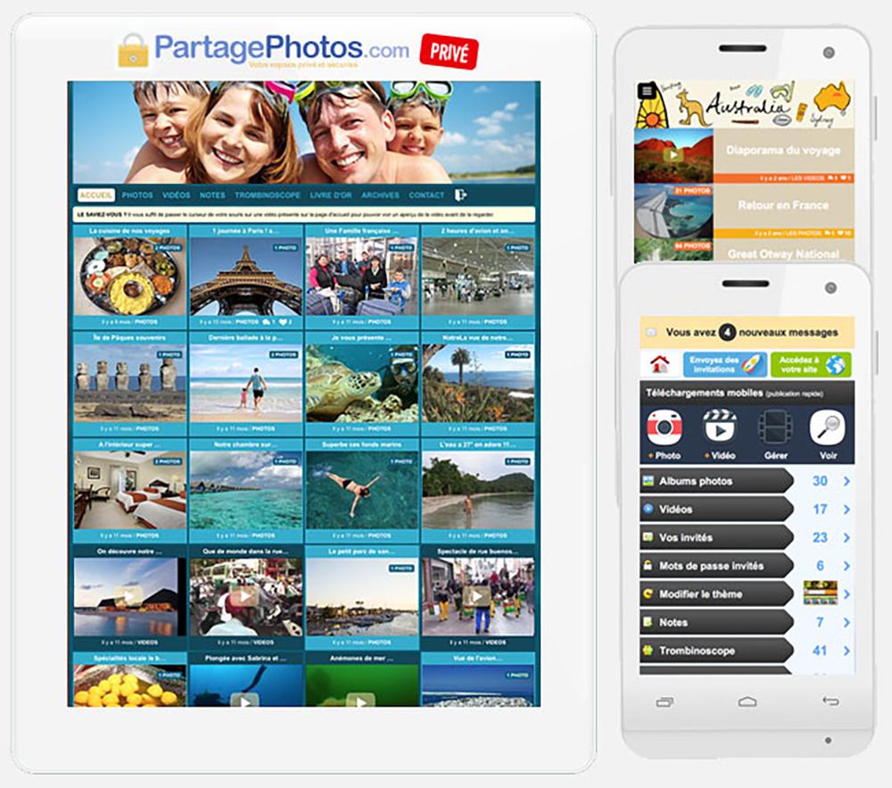 plateforme-partage-photo avec mot de passe